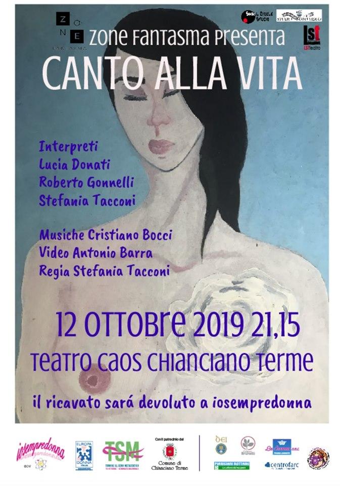 Canto alla Vita spettacolo teatrale Chianciano Terme
